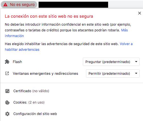 ¿SSL mal instalado?