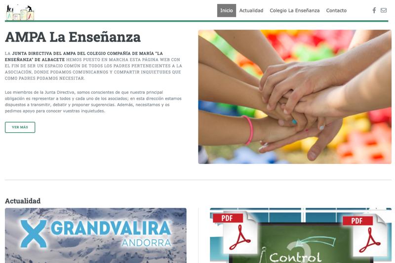 AMPA La Enseñanza - J&L |Web y Comunicación